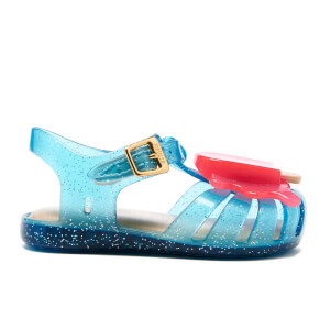 Mini Melissa Toddlers' Aranha Lollypop Sandals - Turquoise Glitter