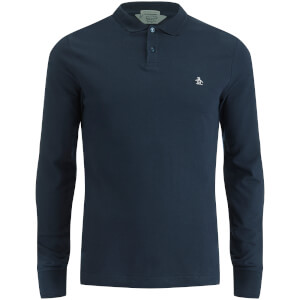 Original Penguin Men's Long Sleeve Polo Shirt - Sapphire