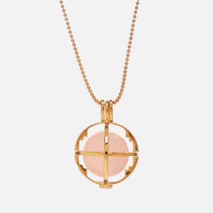 Kiki Minchin Women's The Roxy Cage Necklace - Rose Quartz/Gold