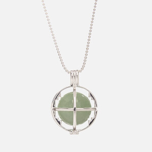 Kiki Minchin Women's The Roxy Cage Necklace - Green Aventurine/Silver