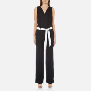 Karl Lagerfeld Women's Tailored Crepe Jumpsuit - Black