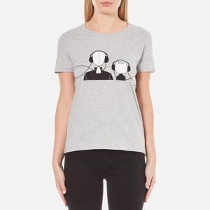 Karl Lagerfeld Women's Karl and Choupette Music T-Shirt - Grey