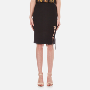 Alexander Wang Women's Pencil Side Slit Lacing Skirt - Matrix
