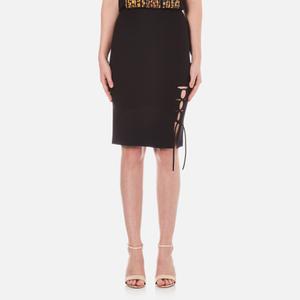 Alexander Wang Women's Pencil Side Slit Lacing Skirt - Matrix