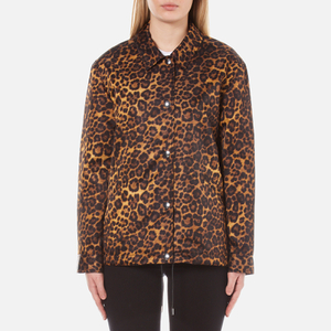 Alexander Wang Women's Classic Coaches Embroidered Patch Detail Jacket - Leopard