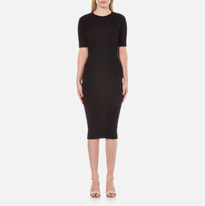Alexander Wang Women's Crew Neck Pierced Sleeve T-Shirt Dress - Matrix