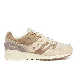 Saucony Men's Grid SD Quilted Heritage Trainers - Tan