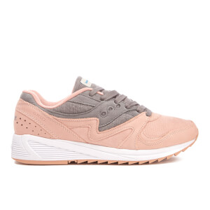 Saucony Men's Grid 8000 Heritage Trainers - Salmon/Charcoal