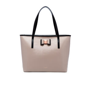 Ted Baker Women's Carilen Bow Detail Large Leather Shopper Bag - Mink