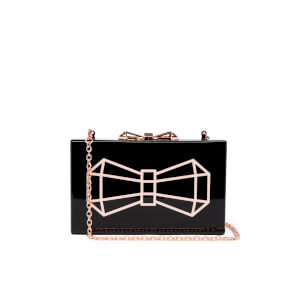 Ted Baker Women's Bowwe Glitter Resin Clutch Bag - Black