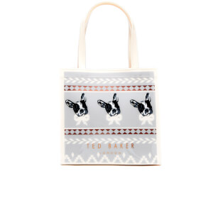 Ted Baker Women's Anscon Cotton Dog Fairisle Small Icon Bag - Grey