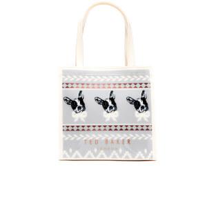 Ted Baker Women's Anscon Cotton Dog Fairisle Small Icon Bag - Grey