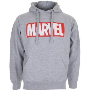 Marvel Boys' Logo Hoody - Grey Marl