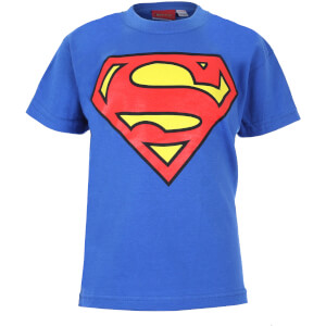 DC Comics Kinder Superman Logo T-Shirt - Royal Blue