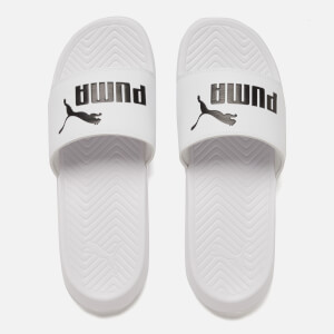 Puma Popcat Slide Sandals - White/Black