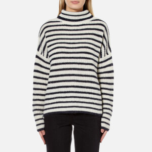 Samsoe & Samsoe Women's Hedvig T-N Jumper - Dark Blue Stripe