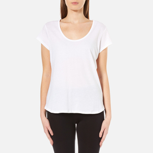 UGG Women's Betty Brushed Jersey Knit Short Sleeve T-Shirt - White