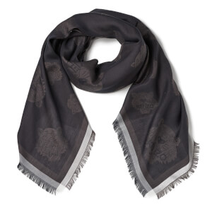 KENZO Jaquard Multi Tiger Head Scarf - Black