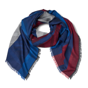 KENZO Jaquard Tiger Head Scarf - Red/White/Blue