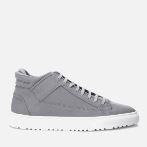 ETQ. Men's Mid Top 2 Reflective Leather Trainers - Python