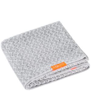 Aquis 单色奢华款干发毛巾 | 白黑轮胎花纹