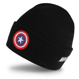 Marvel Men's Captain America Shield Beanie - Black