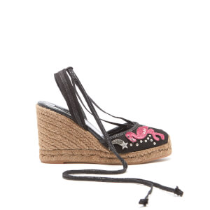 Marc Jacobs Women's Nathalie Embroidered Wedged Espadrilles - Black Multi