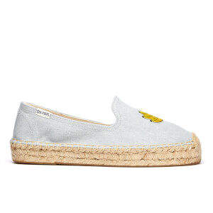 Soludos Women's Banana Platform Smoking Slipper Espadrilles - Chambray