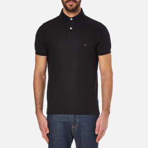 Tommy Hilfiger Men's Slim Fit Small Logo Polo Shirt - New Black