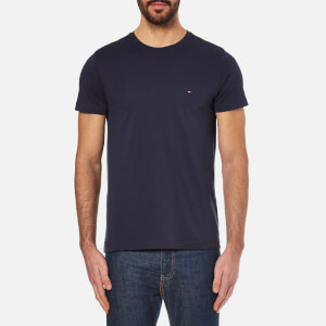 Tommy Hilfiger Men's New Stretch Crew Neck T-Shirt - Navy Blazer