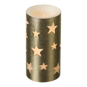 Parlane Star LED Candle - Gold (15cm)