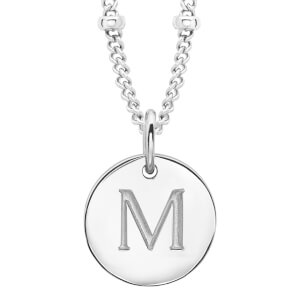Missoma Women's Initial Charm Necklace - M - Silver