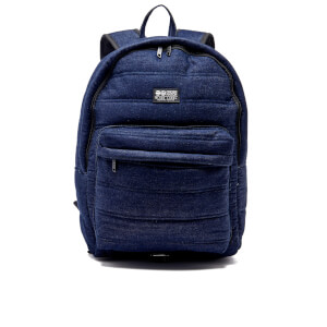 Crosshatch Bolster Quilted Backpack - Dark Denim