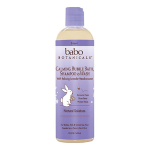 Babo Calming Baby 3-in-1: Bubble Bath, Shampoo & Wash - Lavender & Meadowsweet