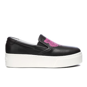 KENZO Women's K PY Tiger Platform Slip On Trainers - Black