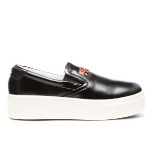 KENZO Women's K Py Patent Platform Slip On Trainers - Black