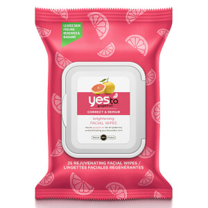 Toalhitas Faciais Rejuvenescedoras Grapefruit da yes to (Pack de 25)