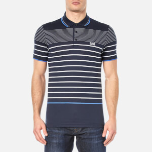 BOSS Green Men's Paule 2 Stripe Polo Shirt - Navy