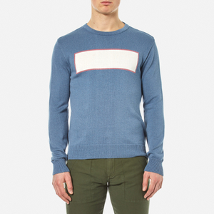 Garbstore Men's Stonewall Crew Knitted Jumper - Blue