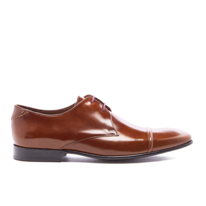 PS by Paul Smith Men's Robin Leather Toe Cap Derby Shoes - Tan High Shine