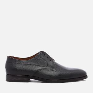 PS by Paul Smith Men's Leo Leather Plain Derby Shoes - Black