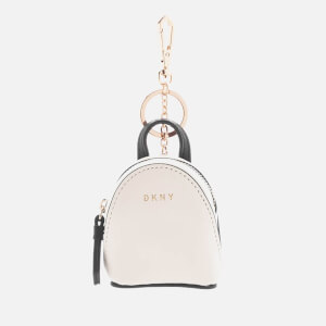 DKNY Women's Mini Backpack Bag Charm - Cream
