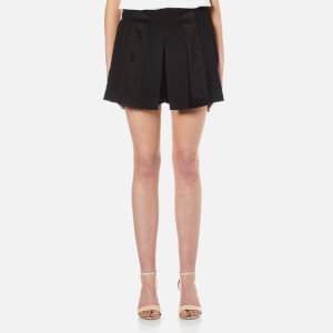 DKNY Women's Pull On Panelled Shorts with Hidden Drawcord - Black