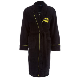 DC Comics Men's Batman Fleece Robe - Black