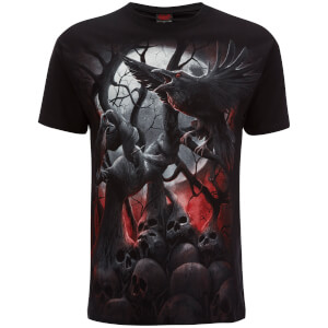 T-Shirt Homme Spiral Dark Roots -Noir
