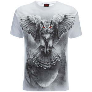 T-Shirt Homme Spiral Wings of Wisdom -Blanc