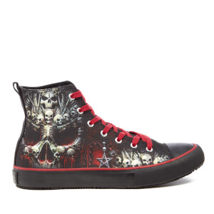 Spiral Men's Death Bones High Top Lace Up Sneakers - Black