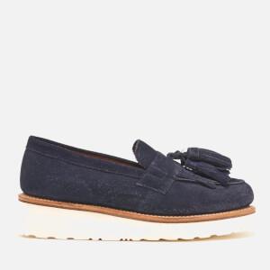 Grenson Women's Clara Suede Tassle Loafers - Navy