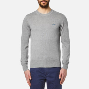Vivienne Westwood MAN Men's Crew Neck Classic Knitted Jumper - Grey Melange