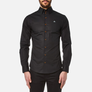 Vivienne Westwood MAN Men's Stretch Poplin Krall Long Sleeve Shirt - Black